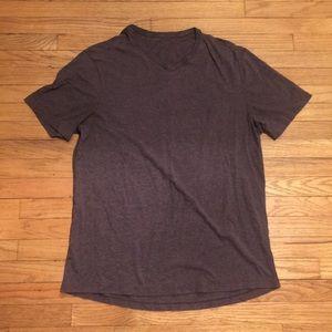 Lululemon mens Brown v neck 5 yr shirt - Medium